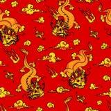 Dragons d'or Image libre de droits