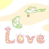 Dragons dans l'amour illustration stock