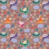 Dragons dans les nuages illustration libre de droits
