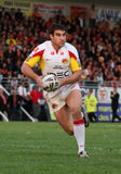 Dragons de Catalans contre des guerriers de Wigan Photo stock