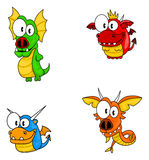 Dragons de dessin animé Image libre de droits
