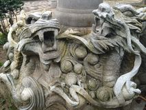 Dragons de pierre Photographie stock libre de droits