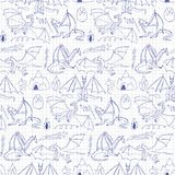 Dragons doodle seamless pattern Royalty Free Stock Photography