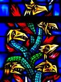 Dragons en verre souillé Photographie stock
