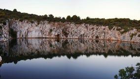 Dragons Eye, Rogoznica Dalmatia Croatia. stock video