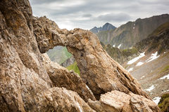 Dragons' Gate in Romanian mountains Stock Images