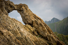 Dragons' Gate in Romanian mountains.  stock photography