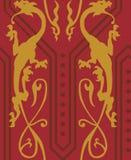 Dragons gothiques sans couture Photographie stock libre de droits