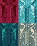 Dragons gothiques sans couture illustration stock
