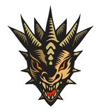 Dragons head, tattoo. Graphic vector illustration of the dragons head royalty free illustration