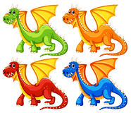 Dragons. Illustration of a set of dragons Stock Photography