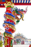 Dragons in joss house Royalty Free Stock Photo