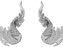 Dragons orientaux illustration stock