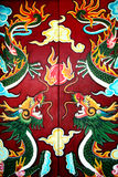 Dragons painted on a door Royalty Free Stock Image