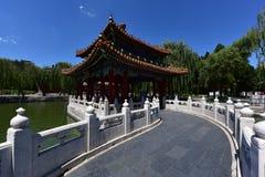 5 dragons pavilion. Dragon pavilion in Beihai Park.Qing Dynasty Stock Photos