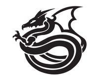 Dragons posing illustration. A black dragons posing illustration Royalty Free Stock Photos