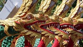 Dragons on Pratumnak Hill near Big Golden Buddha statue in Pattaya, Thailand stock footage