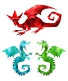 Dragons réglés Photographie stock