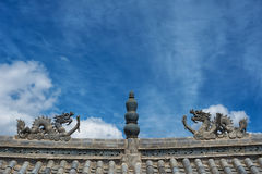 Dragons on the roof Royalty Free Stock Images