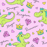 Dragons seamless pattern Royalty Free Stock Photos
