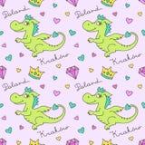 Dragons seamless pattern Stock Photos