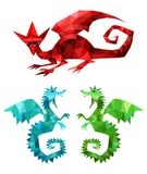 Dragons set. Vector Illustration of dragons set Stock Photography