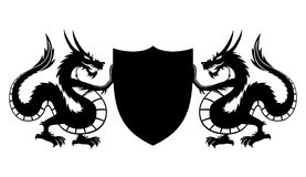 Dragons and shield. Stock Image