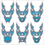 Dragons symbols in tribal style icon Royalty Free Stock Photography