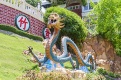 Dragons of Taoist temple in Philippines stock photo