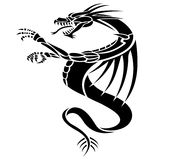 Dragons tattoo. A black dragons tattoo illustration Royalty Free Stock Images