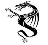 Dragons tattoo. A black dragons tattoo illustration stock illustration