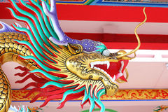 Dragons in the temple. Stock Photo