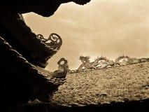 Dragons of Thiên Hậu Temple Royalty Free Stock Photography
