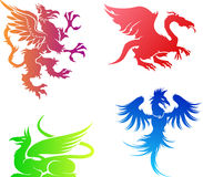 Dragons vector Stock Photos