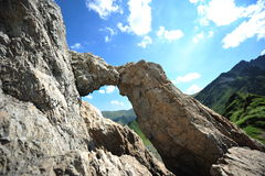 Dragons window - Fagaras mountains, Romania Stock Image