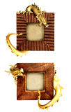Dragons and wooden frames Royalty Free Stock Images