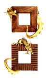 Dragons and wooden frames Stock Photography