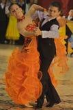 Dragos Ana/Diandra Iles Dancers. Dragos Ana/Diandra Iles, ballroom dancers, 4th place at the Romanian National Contest (Cupa Romaniei), standard section, 12-13 Royalty Free Stock Photography