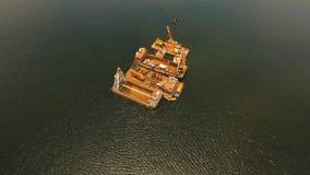 Dragowanie platforma na morzu Filipiny, Manila Fotografia Stock
