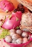Dragron果子,新鲜,水多和可口的圆滑的人 免版税库存图片