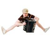 dragspels- musiker arkivbilder