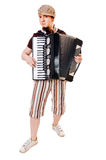 dragspels- musiker royaltyfri foto