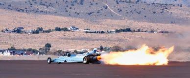 dragster获得了喷气机速度 图库摄影