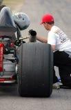 dragster получая обслуживание Стоковое фото RF