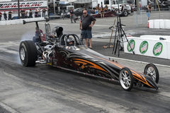 Dragster in action Royalty Free Stock Photography