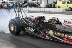 Dragster in action Royalty Free Stock Image