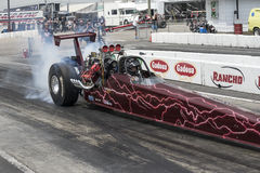 Dragster burnout Stock Photography