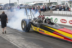 Dragster burnout Royalty Free Stock Photo
