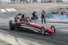 Dragster burnout Stock Image
