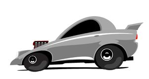 Dragster car. The cartoon dragster sport car Stock Photography